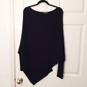 Zara Knit Sweater Asymmetric Hem Dolman Sleeve M